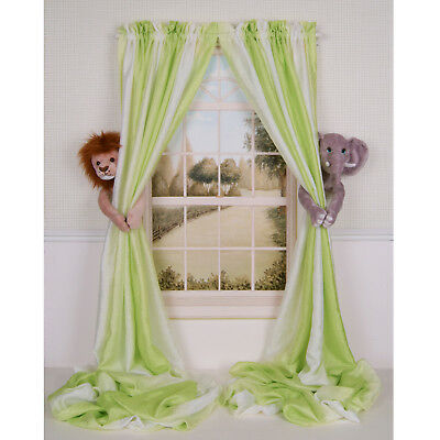 Curtain Critters Jungle Safari Elephant & Lion Curtain Tieback Collector Set