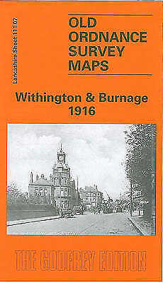 OLD ORDNANCE SURVEY MAP Withington and Burnage 1916: Lancashire Sheet 111.07