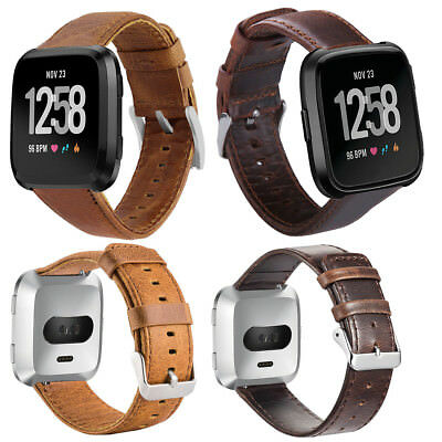 For Fitbit Versa/Lite/Special Edition Genuine Leather Bracelet Smart Wristbands