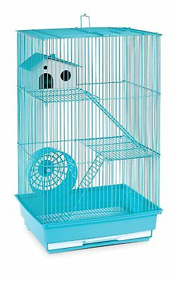 Wire Hamster Cage Pet Gerbil Mouse Small Animal Home 3 Floor Metal House Habitat