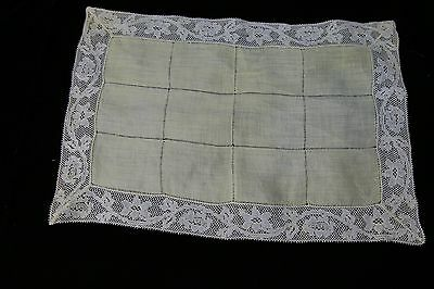 Antique Victorian openwork lace placemat