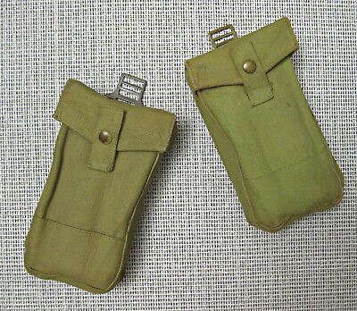 Pair of Canadian Army WW2 ammo Basic Pouch p37 dated 1942