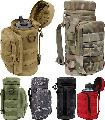 Tactical Water Bottle Pouch, Camo Carrier, Holder Military Army Carry Bag MOLLE