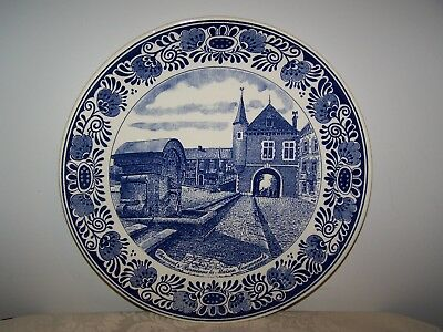 DUTCH DELFT BLUE WALL CHARGER LIMITED EDITION PLATE FOR DETRYS 30th BIRTHDAY