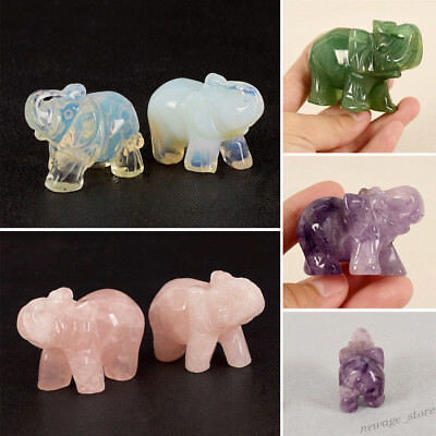 4 Style Natural Elephant Statue Carved Lucky Figurine Home Decoration Gifts