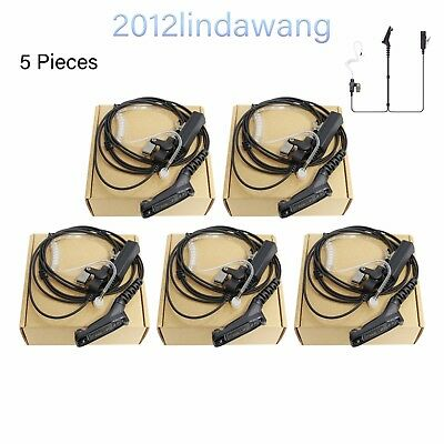 5X Surveillance Earpiece Kit Mic for Motorola APX6500 XiR P8268 Portable Radio
