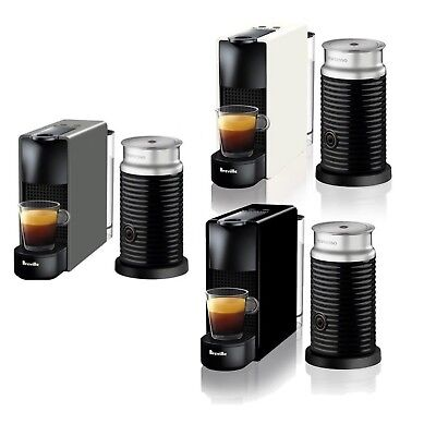 Breville BEC250 Essenza Mini Bundle Nespresso Machine - Black - White - RRP $249