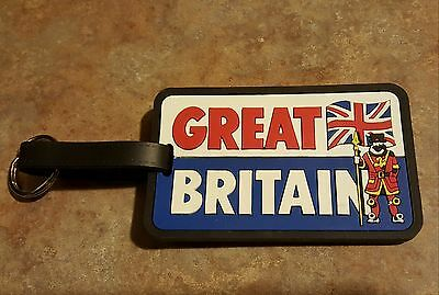 "Great Britain luggage ID tag 4"" x 2 1/2"" by John Hinde LTD"