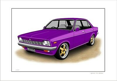 Holden Gemini Td  Edan Limited Edition Car Drawing Print   ( 6 Car Colours )