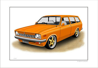 Holden Td Gemini Station Wagon    Limited Edition Car Print ( 6 Car Colours)