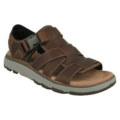 e8497e3f14a Mens Clarks Unstructured Leather Slingback Strapped Sandals Shoes Un Trek  Cove