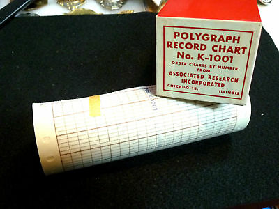 """rare"" Associated Research Polygraph Record Chart Paper,lie Detector- - Chicago"