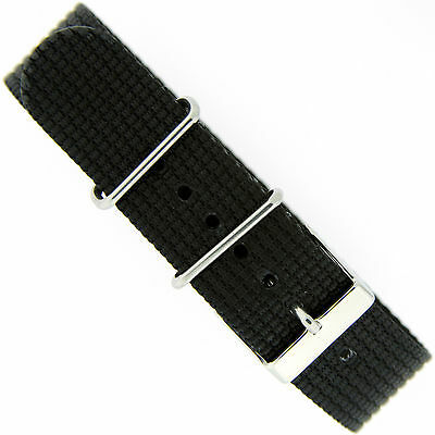Watch Band Nylon Fits Timex Weekender Extra long 20mm Black