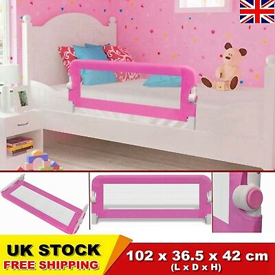 Pink Toddler Bed Rail Safety Guard Infant/Kid Protection Bedrail 102 x 42 cm UK