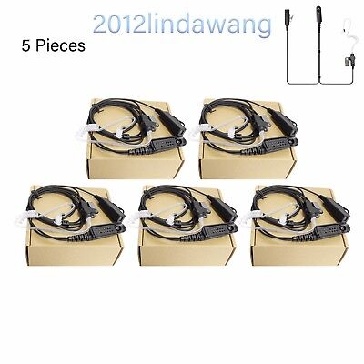 5X Headset Earpiece Mic for Motorola GP380 HT1250 MTX950 PRO5350 PRO7350 MTX960