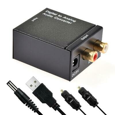 Optical Coaxial Toslink Digital to Analog Audio Converter 3.5mm Adapter RCA L/R