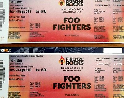 biglietti foo fighters