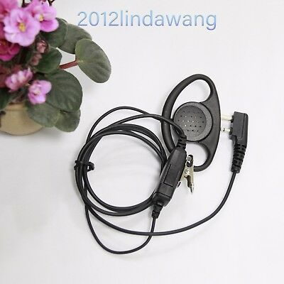 D Shape Earhook Earpiece Earphone for ICOM IC-F33 F34 F43 F44 F3011 F4011 Radio