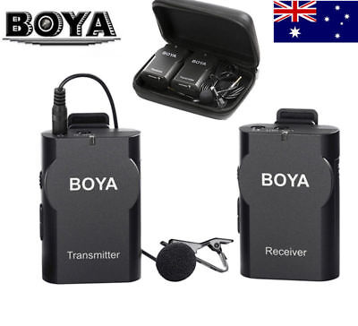 AU BOYA BY-WM4 Wireless Lavalier Lapel Microphone for iPhone Samsung DSLR Came
