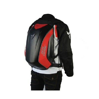 Motorcycle Carbon Fiber Red Backpack Riding Fashion Travel Motocross Racing Bag