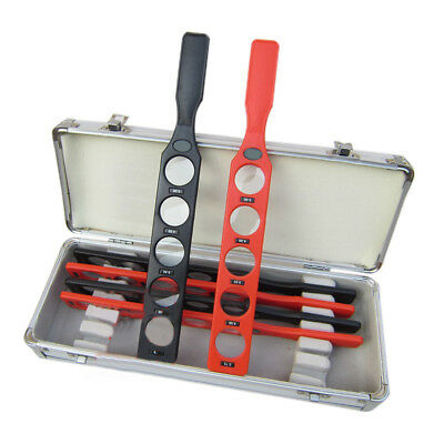 Optical Ophthalmic Retinoscopy Lens Rack Set Trial Lenses Plastic Bar with Case
