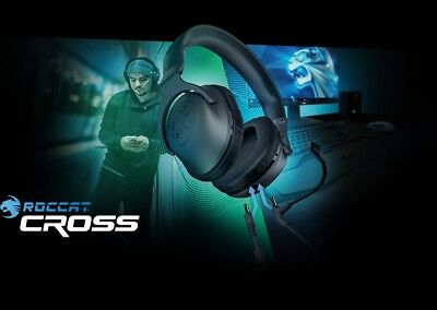- ROCCAT CROSS Multi Platform Stereo Gaming Headset PC XBOX PS4 Kopfhörer m. Mic