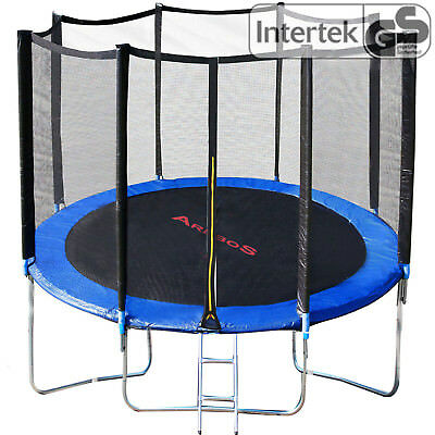 Outdoor trampoline with safety net enclosure padding ladder Fitness 8 10 12 14ft