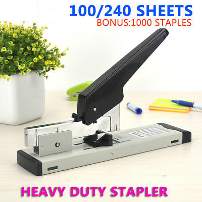 Heavy Duty Home Office Stapler 100/240 sheet capacity Inc Pack of 1000 staples @
