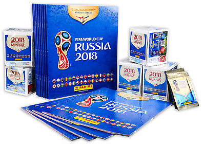 World Cup 2018 Stickers Panini FIFA Football Russia - 10 20 100 500 Packs NEW