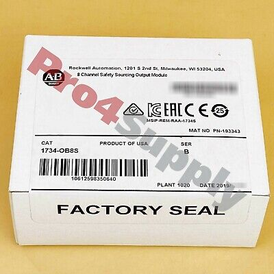 2018 US Stock Allen-Bradley Safety Sourcing Output Module 1734-OB8S 0B8S