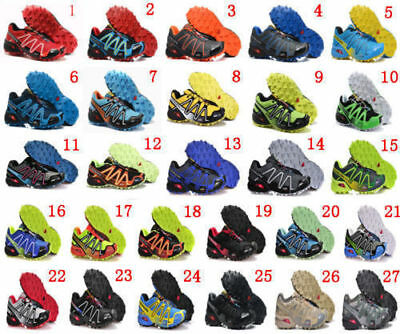 32 colours Men's Salomon Speedcross 3 Athletic Running Hiking Sneakers Shoes