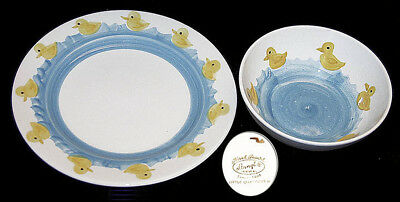 Stangl Little Quackers Kiddieware Childs Bowl and Plate GREAT!