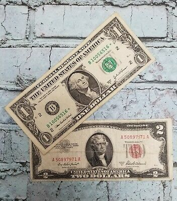 Estate Lot of STAR Notes - $1.00 AND $2.00 - STAR Note Paper Money