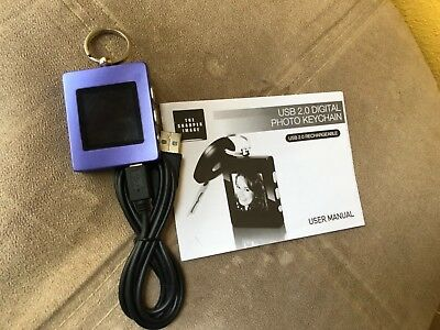 The Sharper Image USB 2.0 Digital Photo Keychain Purple NEW
