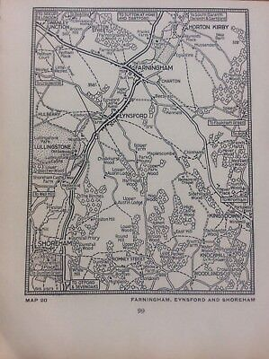 Farningham Eynsford Shoreham Kingsdown c1920 Map London South of the Thames 5x4""