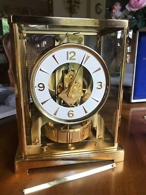 Boxed Vintage Jaeger Lecoultre Atmos Mantle Clock In Lovely Condition Working