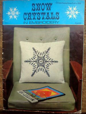 Vintage Snow Crystals In Embroidery Booklet Coats No 1076