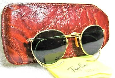 Vintage *NOS USA 1950s Rare Bausch & Lomb (Ray-Ban) 12k GF New Sunglasses & Case