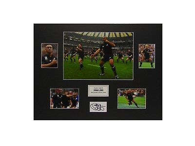 Jonah Lomu Signed Ltd Edition New Zealand All Blacks Legend Rugby Display+ *coa*