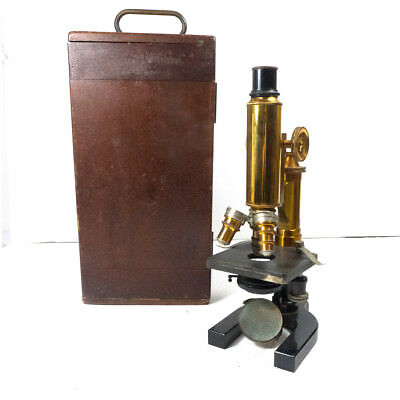 Antique Early 1900's Microscope Spencer Lens Co. Objectives Equipment w/ Case