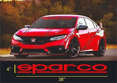 Auto Car Front Reflective Windshield Decal Glass Banner for SPARCO Vinyl Sticker