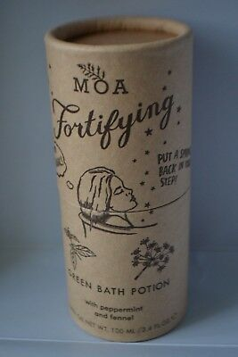 Sealed Moa Fortifying Green Bath Potion oil with peppermint&fennel 100ml RRP £28