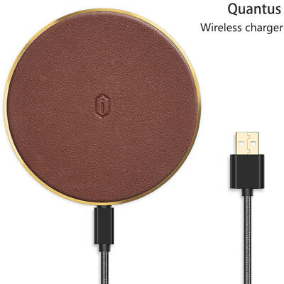 WiWU Quantus Wireless Charger for Qi Enabled Smart Devices in Brown #QC100BR