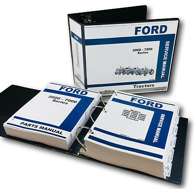 Parts Cat Ford 2000 3000 4000 5000 7000 Tractor Workshop Service Repair Manual Ford
