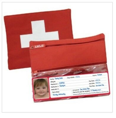 Allergy - Asthma - Medication Bag First Aid bag - insulated RED