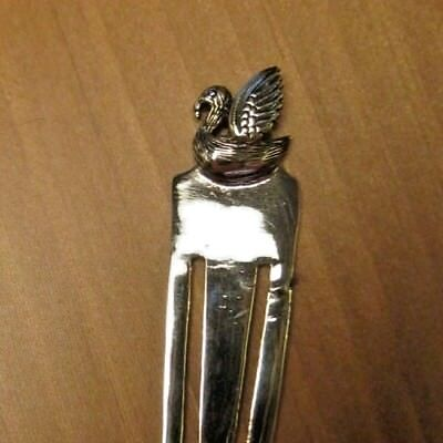 Beautiful Solid Silver Swan / Liver Bird / Liverpool Bookmark