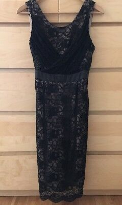 A Pea In The Pod Black Lace Overlay Maternity Dress - Medium - Sale!