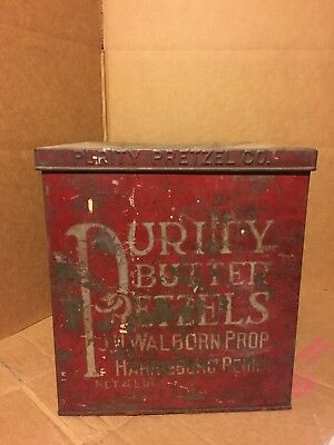 Vintage Purity Pretzel Co. Metal Box Counter Display