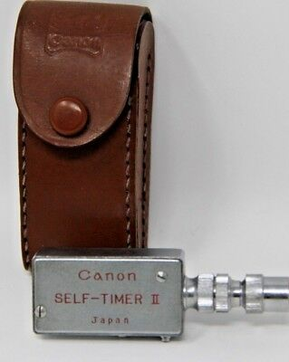 Canon Vintage Self Timer II, W/Case From Japan Rare Camera Gear