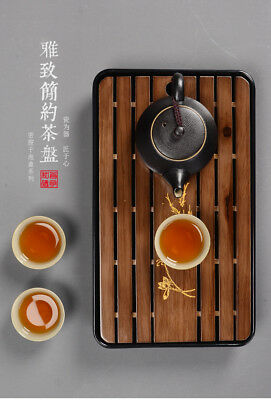 Solid Wood Kung Fu Tea Tray Drainage Water Storage GongFu Tea Table Serving Tray